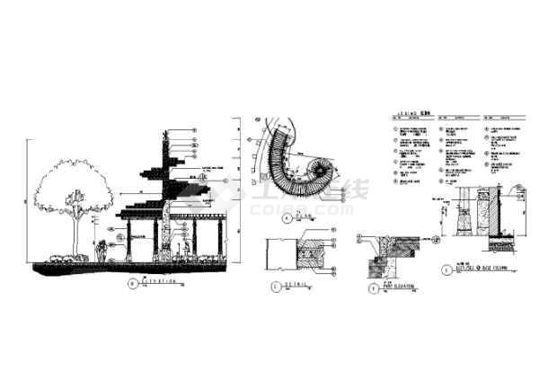 园林景观小品亭廊花架CAD设计施工图(共228张)-图2