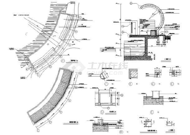 园林景观小品亭廊花架CAD设计施工图(共228张)-图3