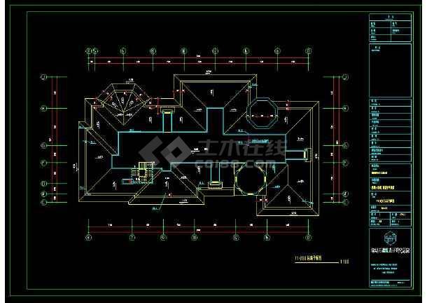 某地三层精品别墅建筑给排水设计方案cad图-图1