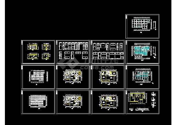 10套别墅建筑cad图纸(双拼别墅、三层别墅、双联别墅)-图1