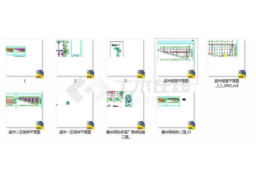 超市装修消防设计全套图纸含(配套造价)图片
