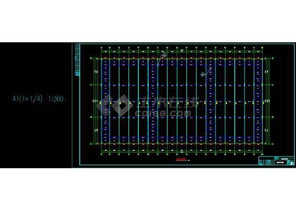 船體結構車間工程設計圖        圖紙包括:        鋼結構設計總說明