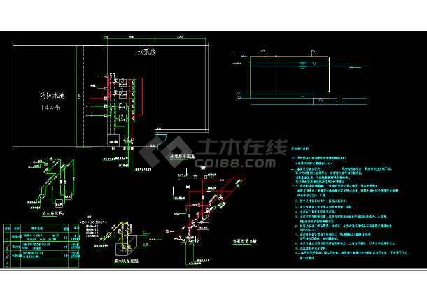 古建筑消防设计蓝图孔子庙消防设计-图1