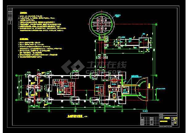 某筒仓水泥磨厂房结构cad设计图