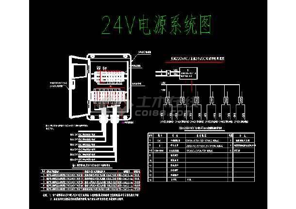 火电厂24v电源原理接线图