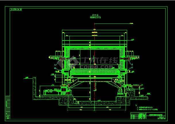 某25米环形加热炉炉体结构设计图
