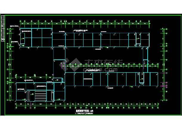 某错误教学楼全套cad图纸设计施工平面cad2016中学激活图片