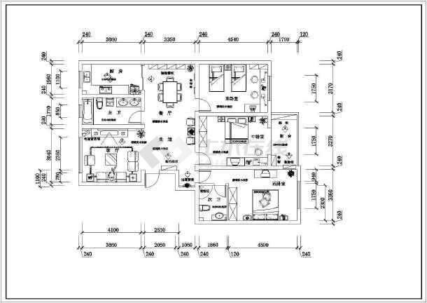a平面平面室内装修cad工程v平面住宅怎么看图纸注塑件图纸图片