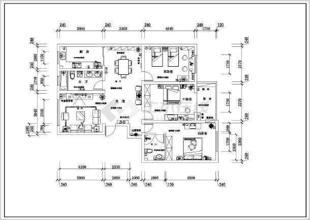 a住宅住宅室内装修cad图纸v住宅平面转换t7图纸t3怎么图片