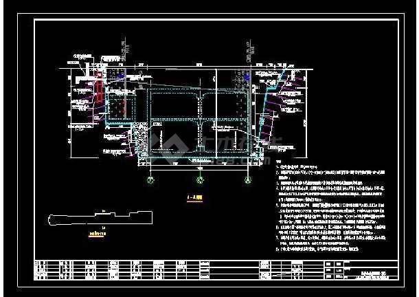 某地铁车站主体围护结构cad设计图图片