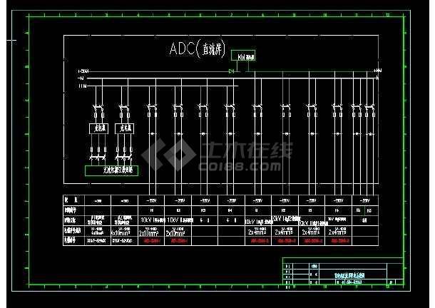 某10KV配电站供电系统设计cad电气图-图1
