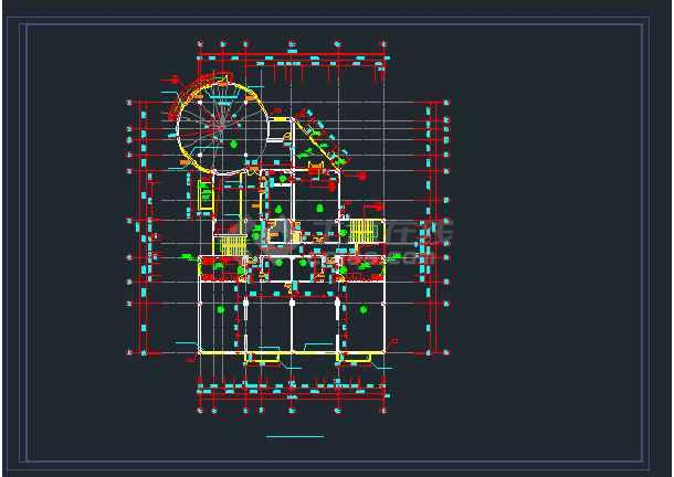 旺山幼儿园建筑设计cad施工图纸