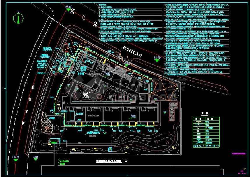 AAA市第三实验学校幼儿园建筑室外cad图纸(给排水)-图1
