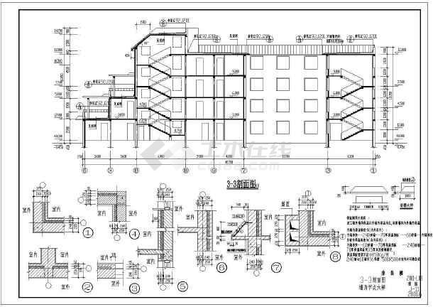 某市四层养老院建筑方案设计施工cad图纸图片