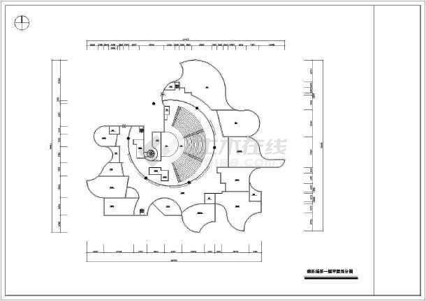 某娱乐场所平立剖cad室内设计装修图-图2