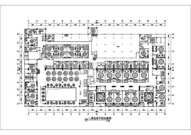 某酒店ktv整层室内装修cad平面施工设计图图片