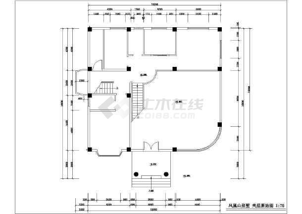 某别墅室内设计装修cad施工方案图-图1