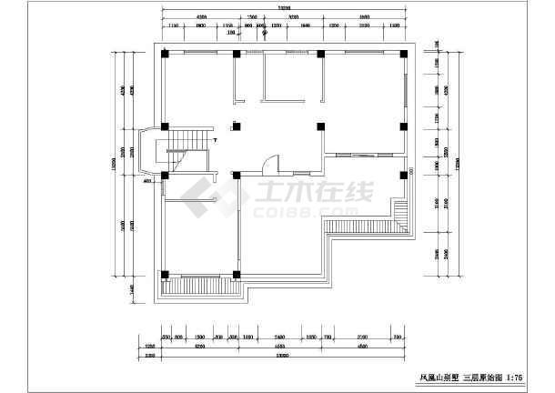 某别墅室内设计装修cad施工方案图-图2