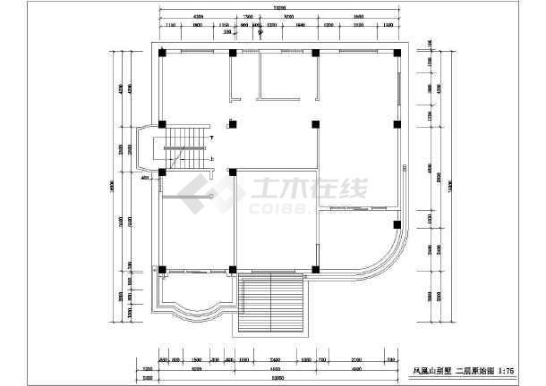 某别墅室内设计装修cad施工方案图-图3