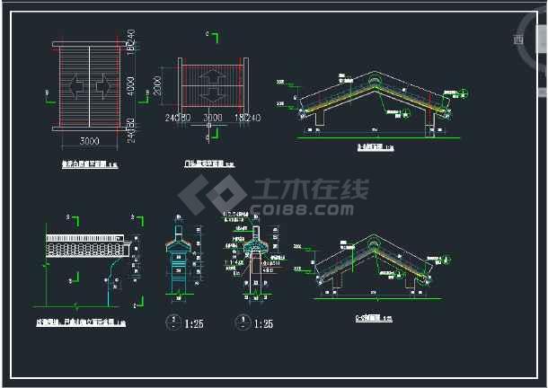 濮港村安息堂改扩建图纸CAD建筑项目意思thrun1111什么图纸图片