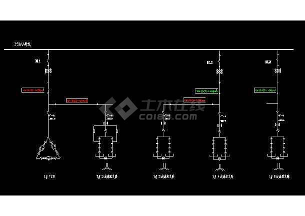 典型的电弧炉谐波治理用svc一次主接线图