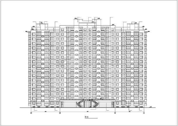 哈尔滨某房地产开发公司开发休息小区6#住宅楼CAD建筑设计图-图1