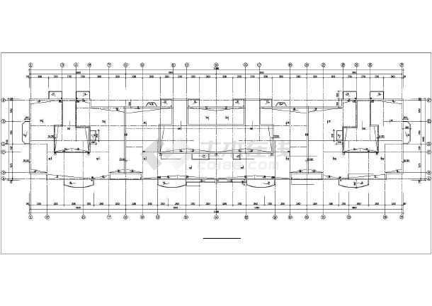 哈尔滨某房地产开发公司开发休息小区6#住宅楼CAD建筑设计图-图2