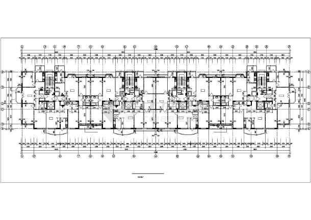 哈尔滨某房地产开发公司开发休息小区6#住宅楼CAD建筑设计图-图3