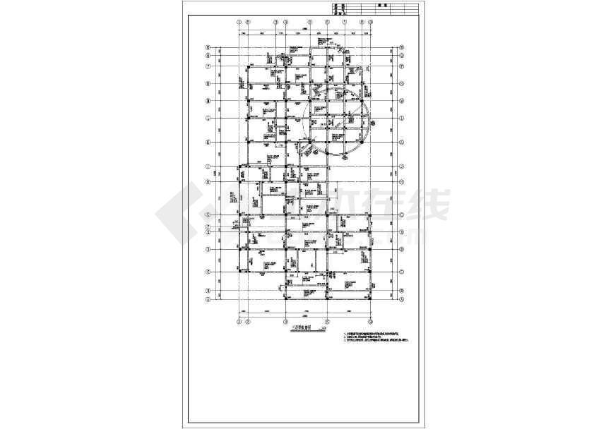 某框架幼儿园结构设计图(含设计说明)
