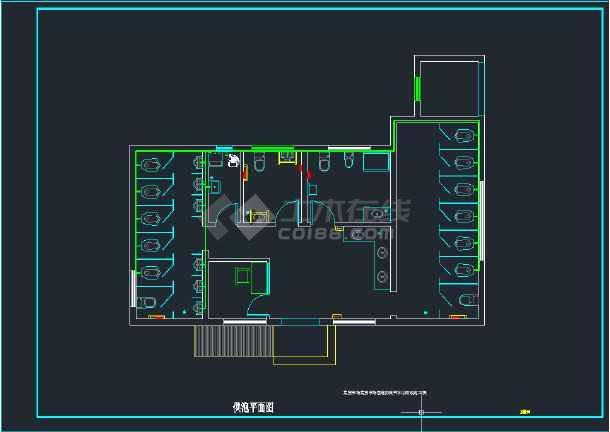 三套公厕内部装修改造--给排水施工图(含设计说明)-图2