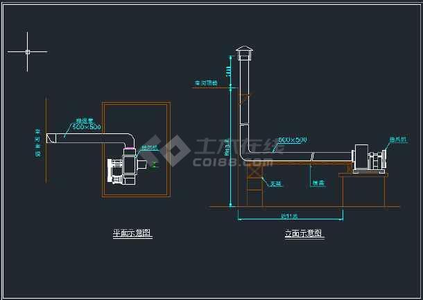 某柴油溶铝炉废气处理工程设备安装图-图2