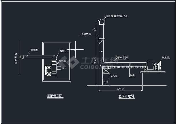 某柴油溶铝炉废气处理工程设备安装图-图3