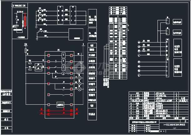 进线柜、联络柜、电容器主柜和副柜电气原理图-图2