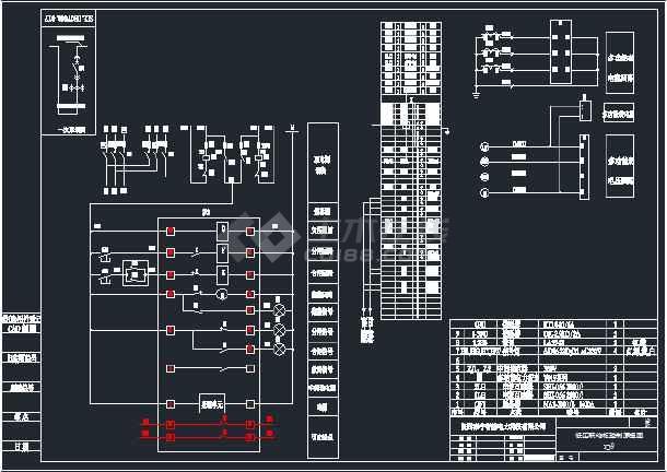 进线柜、联络柜、电容器主柜和副柜电气原理图-图3