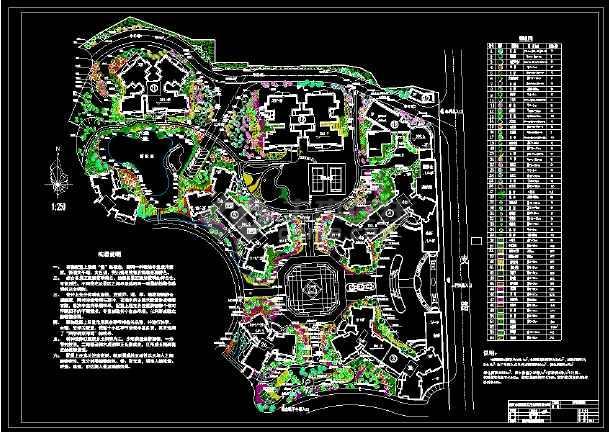 某住宅小区园林景观规划竣工图-图1