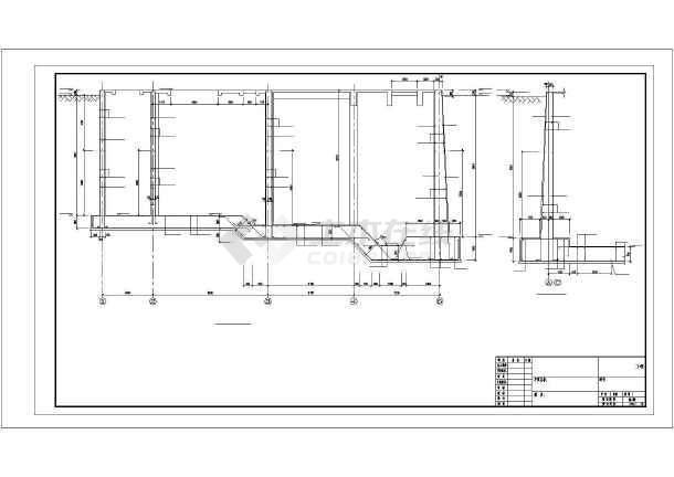 某城市污水处理厂水池建筑结构图