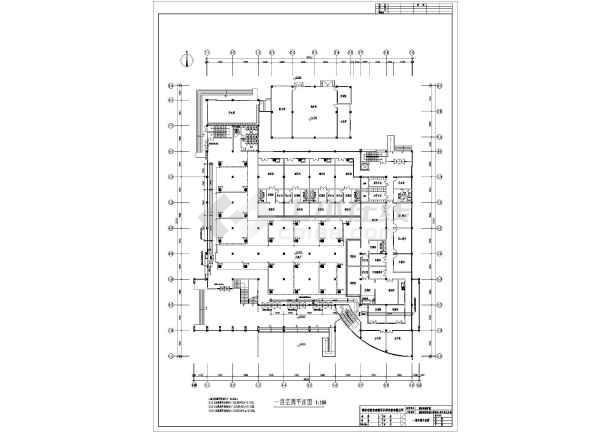 某大学学生第一食堂全套cad暖通设计施工图-图1