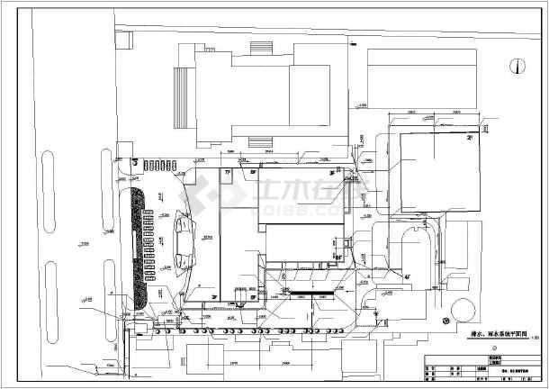 宾馆综合楼给排水空调cad施工图-图1