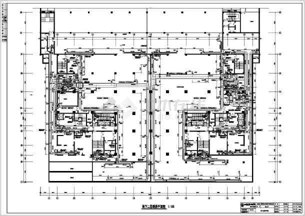 某大厦写字楼建筑暖通空调cad施工图纸-图1