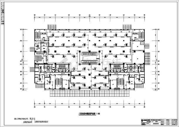 某大厦写字楼建筑暖通空调cad施工图纸-图3