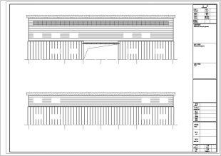 广东某毛织厂钢结构办公楼图纸高清工程施工图纸图片