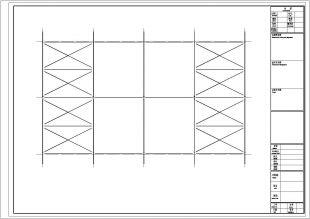 广东某毛织厂钢结构办公楼图纸一横竖两图纸图片
