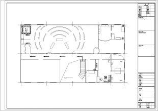 广东某毛织厂钢结构办公楼立体楼梯钢结构图纸图纸图片