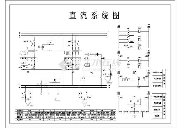 110kv变电站保护直流所设计cad主接线图