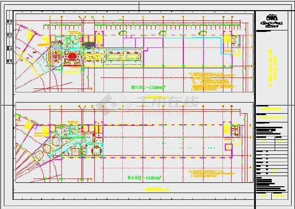 大型酒店电气系统cad施工设计图纸-图1
