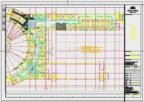 大型酒店电气系统cad施工设计图纸-图3