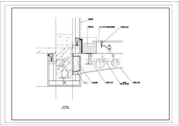 某小雨篷结构图   图纸包括:小雨棚剖面图,小雨棚平面图,小雨棚钢结构