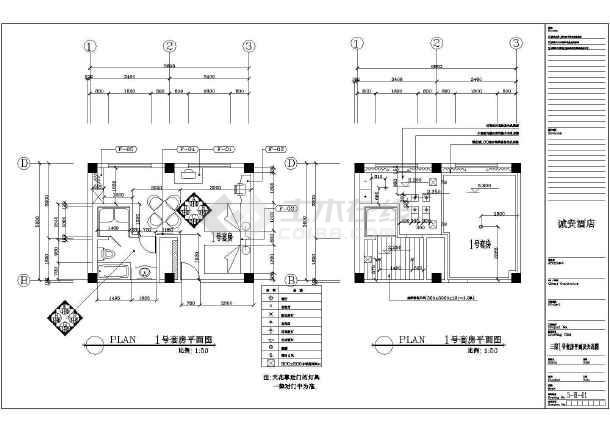 某市三星级酒店cad暖通容调平面施工设计图-图3