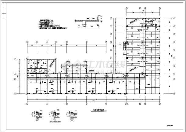 市级混合数字教学楼cad施工小学实验小学图纸结构田字格书写图片