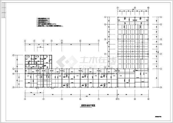 市级施工结构教学楼cad混合小学实验图纸长安小学新城图片